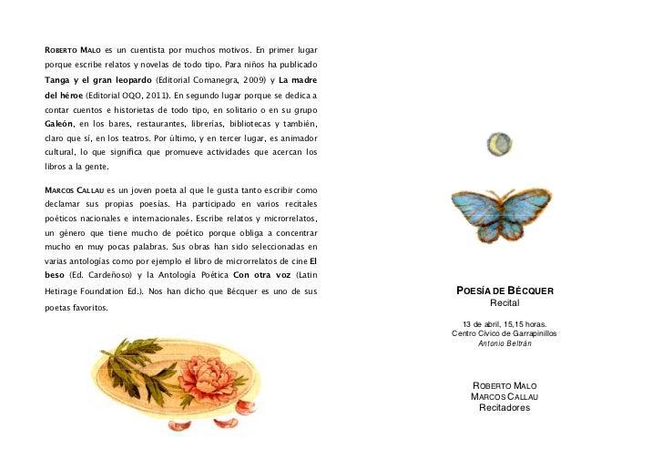 ROBERTO MALO es un cuentista por muchos motivos. En primer lugarporque escribe relatos y novelas de todo tipo. Para niños ...
