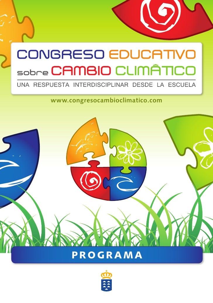 Programa Congreso Educativo sobre Cambio Climático