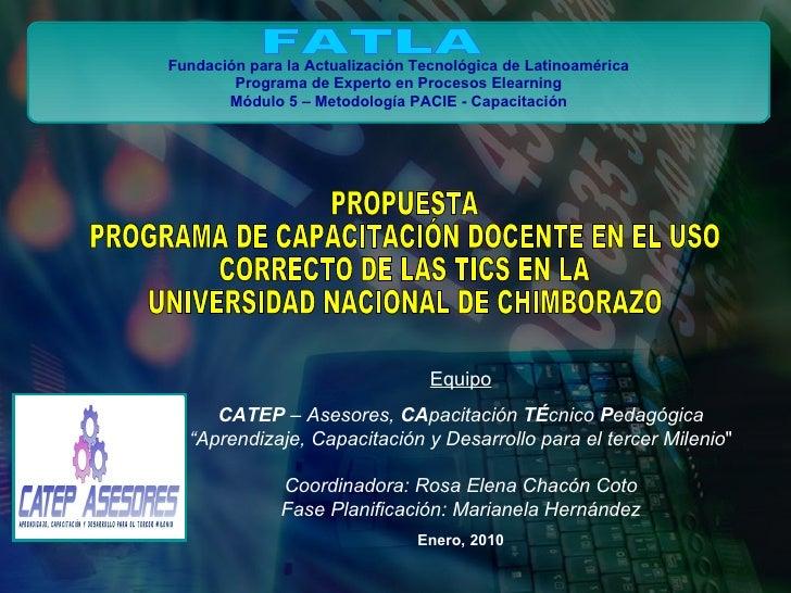 Programa Capacitacion Docente Universidad de Chimborazo