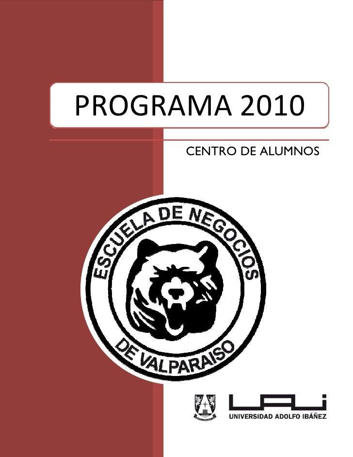 Programa Centro de Alumnos Escuela de Negocios UAI