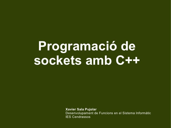 Programació de sockets amb C++