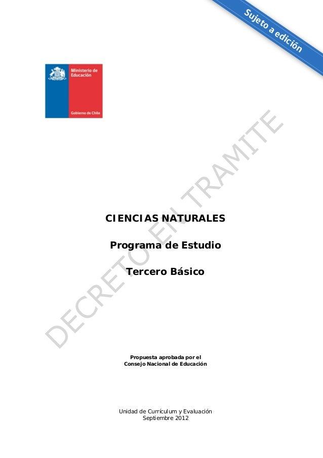 Programa ciencias naturales 3° básico 26 09
