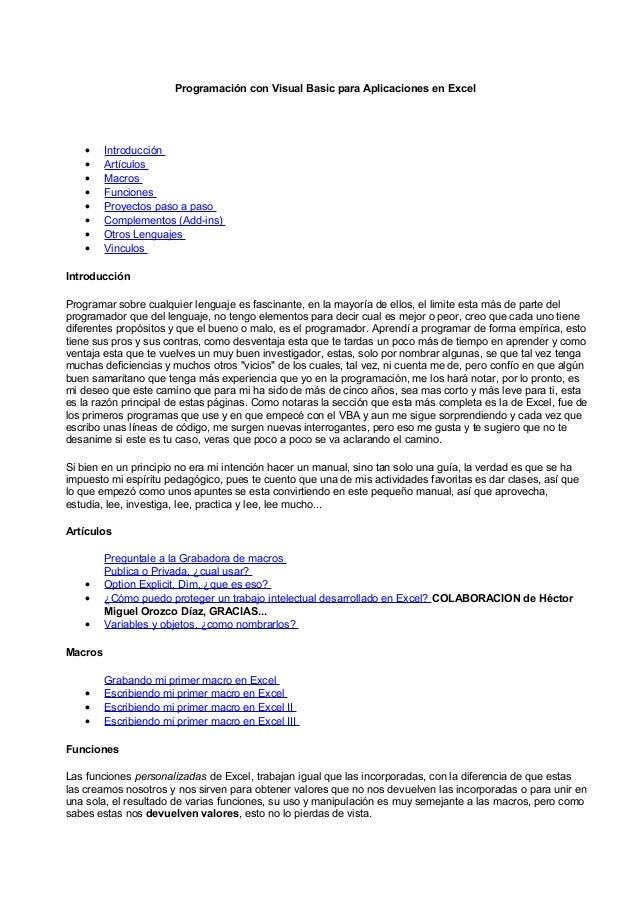 Programacinconvisualbasicparaaplicacionesenexcelprogramacinpuraconexcel 120714133406-phpapp02