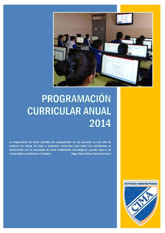 Programacin Curricular Anual 2014 Minedu | newhairstylesformen2014.com