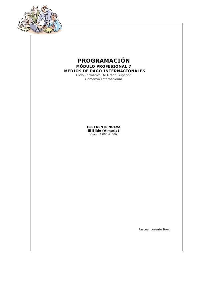 Programacin Medios De Pago Internacionales 1