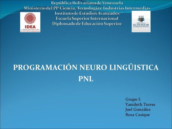 Programación neuro linguistica