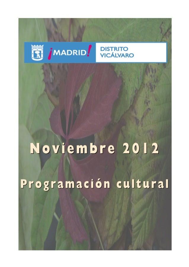 Programación noviembre vicálvaro