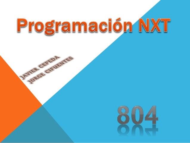 1.Este programa sencillo hará que el NXT reproduzca un archivo de sonido. Le ayudará a entender cómo conectar su ordenador...