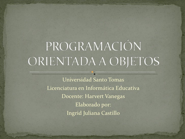 Universidad Santo TomasLicenciatura en Informática Educativa      Docente: Harvert Vanegas           Elaborado por:       ...