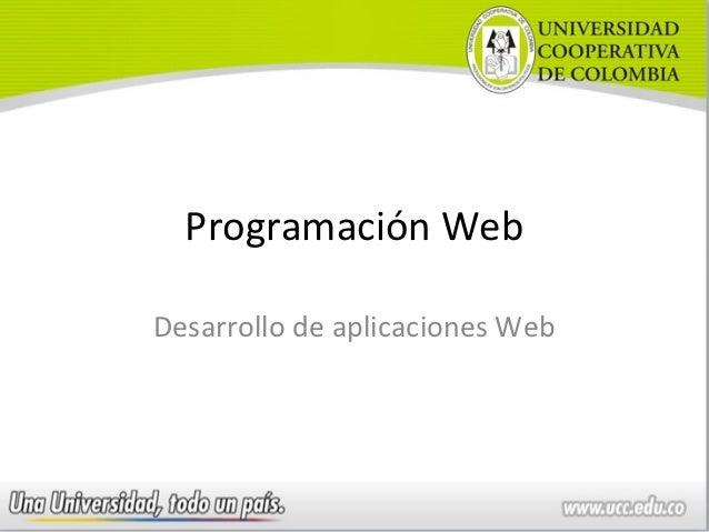 Programación WebDesarrollo de aplicaciones Web