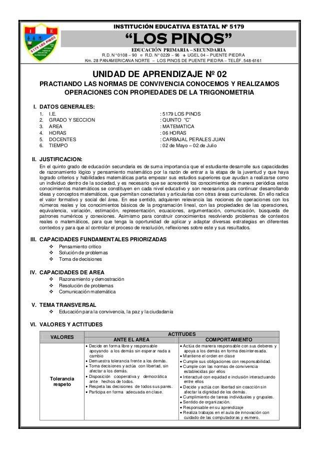 """INSTITUCIÓN EDUCATIVA ESTATAL Nº 5179                                           """"LOS PINOS""""                               ..."""