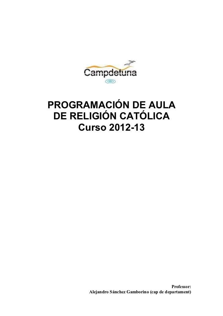 Programacion 2012 13