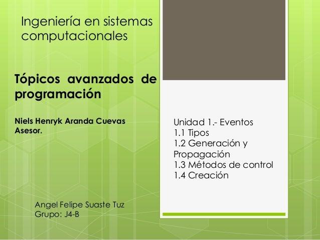 Ingeniería en sistemas computacionales  Tópicos avanzados de programación Niels Henryk Aranda Cuevas Asesor.  Angel Felipe...