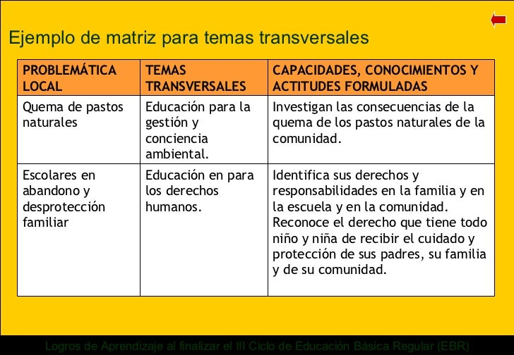 Matriz De Programacin Curricular 6to De Primaria Share