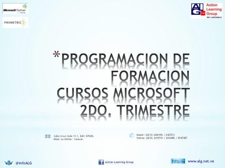 Programacion cursos Microsoft segundo trimestre 2012