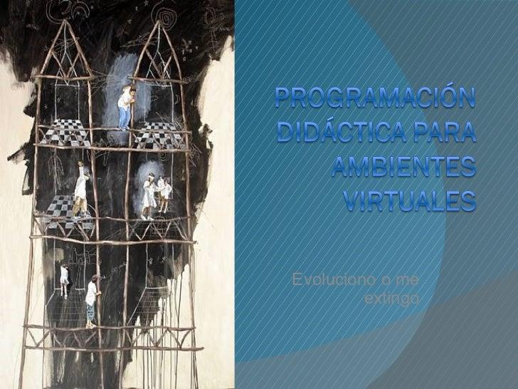 Programacion didactica cursos virtuales