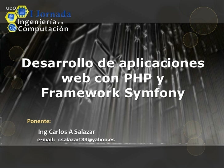 PHP Con symfony