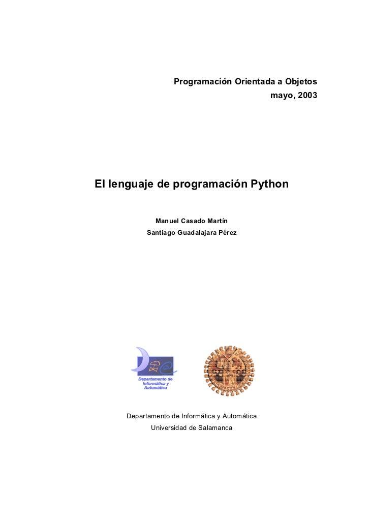 Programacion orientada a objetos python   manuel casado martín - universidad de salamanca 2003
