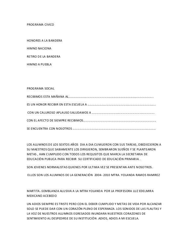 Programa Civico Para Clausura