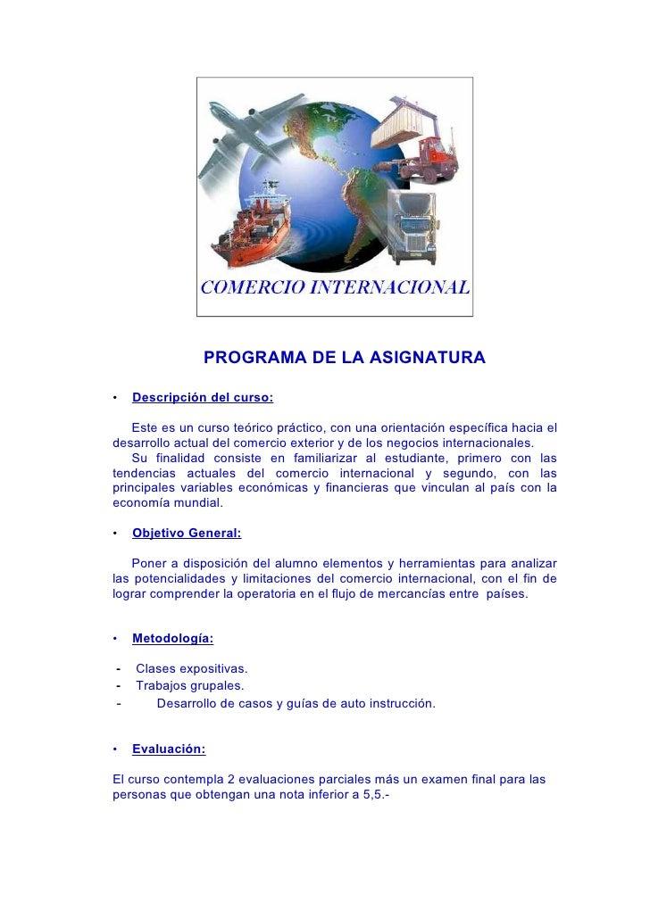 PROGRAMA DE LA ASIGNATURA  •   Descripción del curso:      Este es un curso teórico práctico, con una orientación específi...