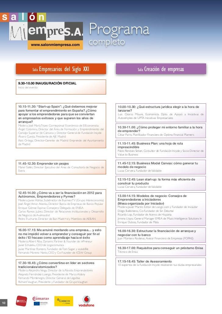 Programa completo sme 2012
