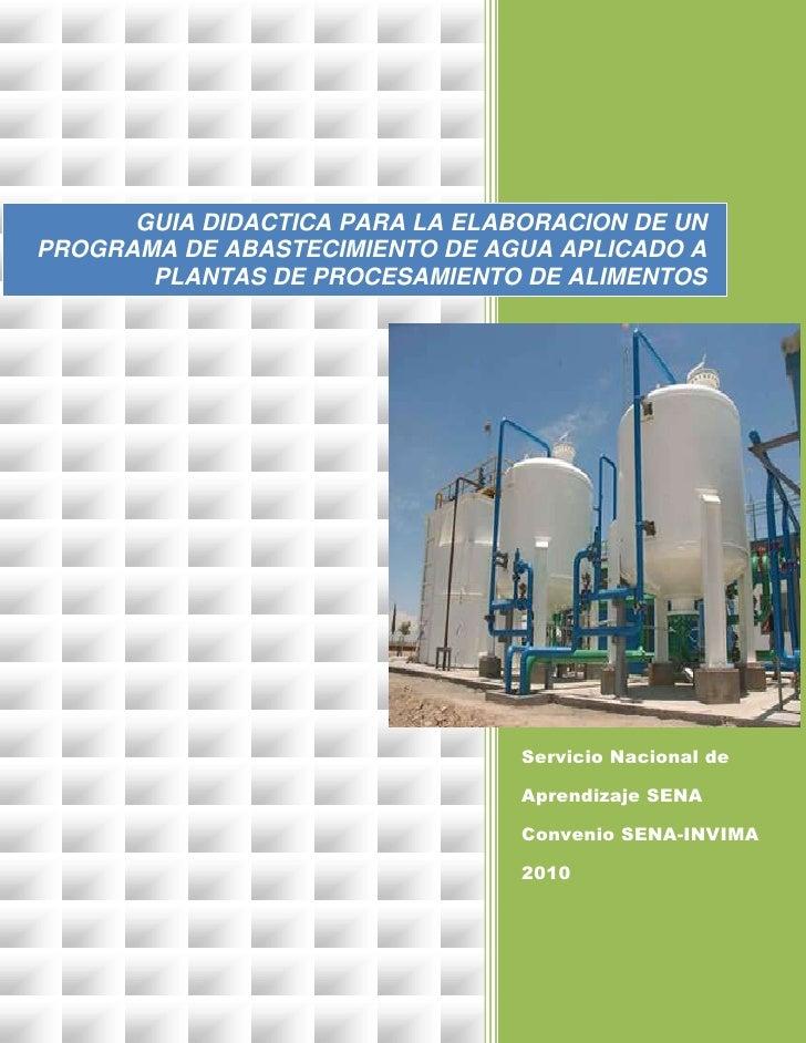 Servicio Nacional de Aprendizaje SENA Convenio SENA-INVIMA 2010          26760282060438GUIA DIDACTICA PARA LA ELABORA...