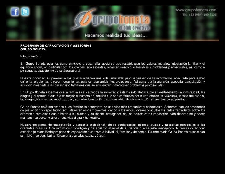 Programa de capacitación 2011 gb