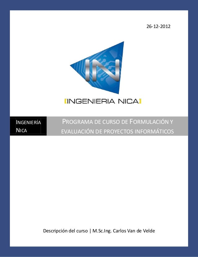 Programa de curso de formulaci n y evaluaci n de proyectos for Proyecto de construccion de aulas de clases