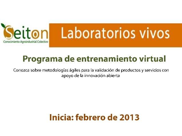 Programa de entrenamiento en laboratorios vivos