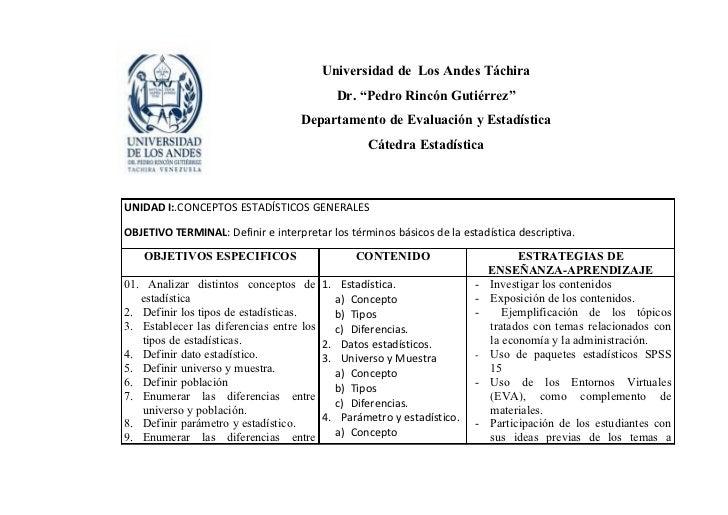 """Universidad de Los Andes Táchira                                             Dr. """"Pedro Rincón Gutiérrez""""                 ..."""