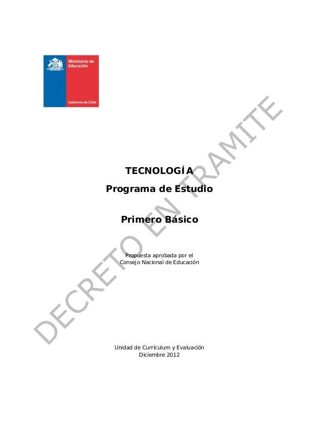 Programa de estudio 1 basico tecnologia