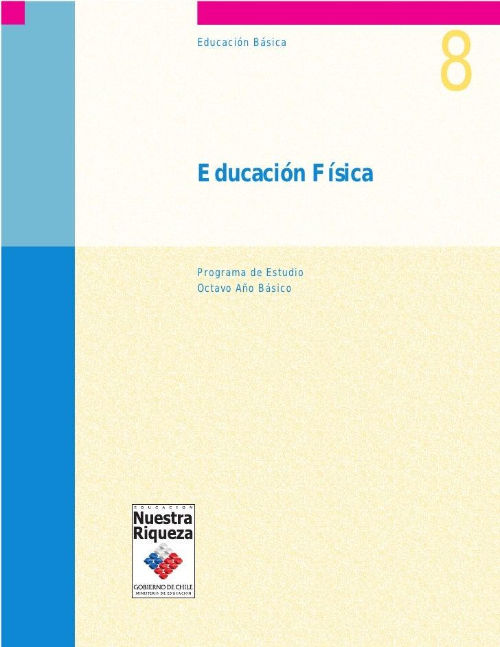 Programa de estudio 8° educación física