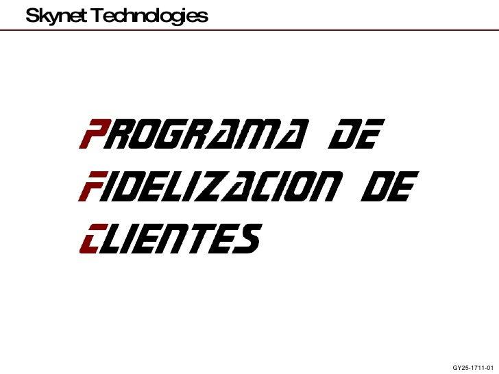Programa De Fidelizacion De Clientes