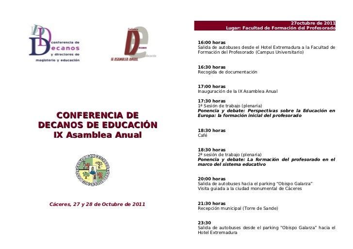 Programa Conferencia Decanos