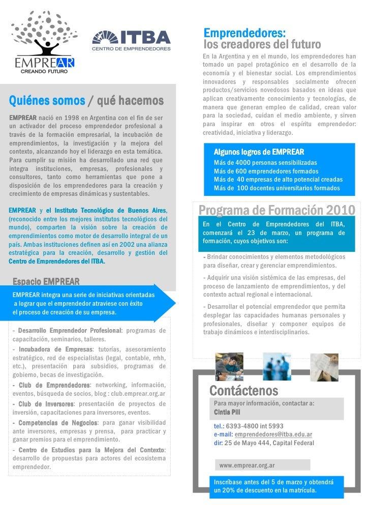 Programa De Formacion 2010