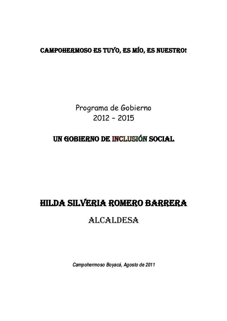 Campohermoso Boyacá, Agosto de 2011