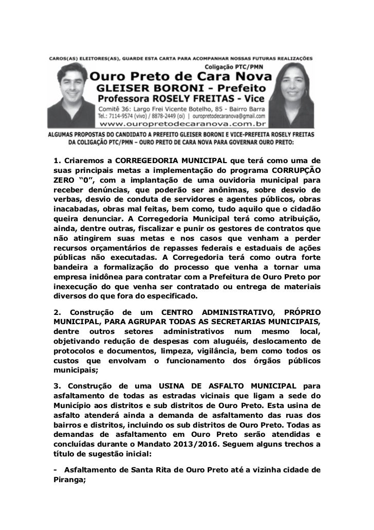 1. Criaremos a CORREGEDORIA MUNICIPAL que terá como uma desuas principais metas a implementação do programa CORRUPÇÃOZERO ...