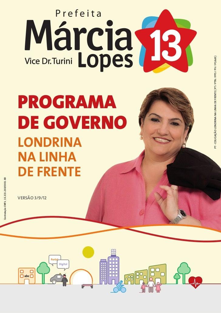 Programa de Governo Londrina na Linha de Frente _ Versão 03.09.2012