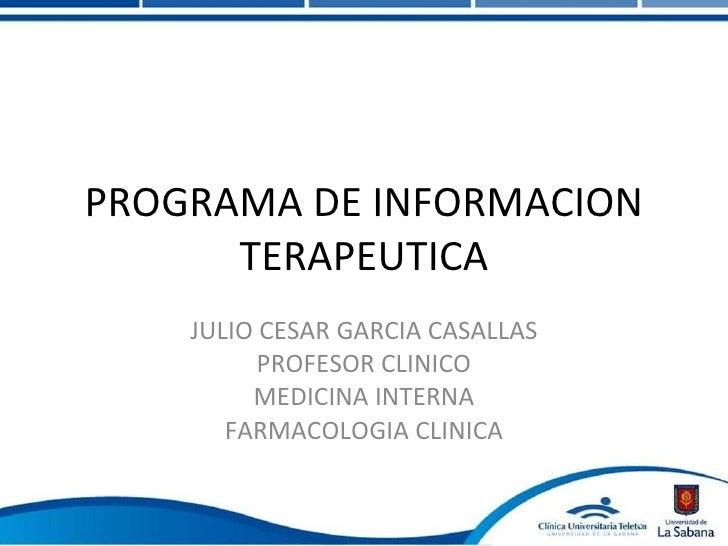 Programa de informacion terapeutica cut
