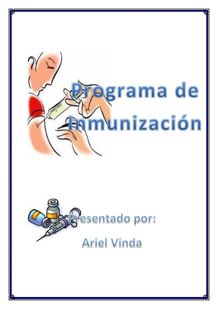 Programa de inmunizacion