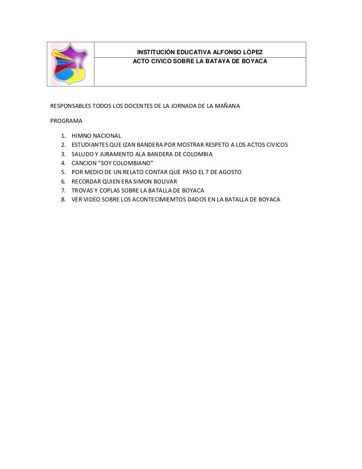 Programa Del Acto Civico