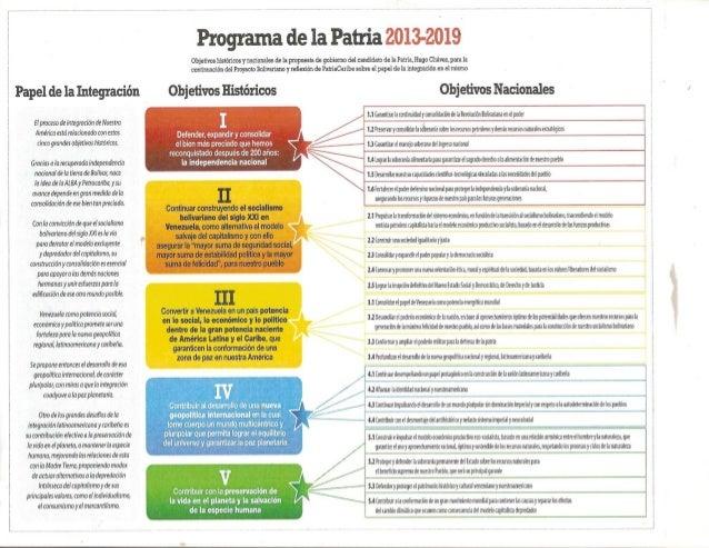 Programa de la patria 2013   2019