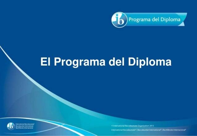 El Programa del Diploma