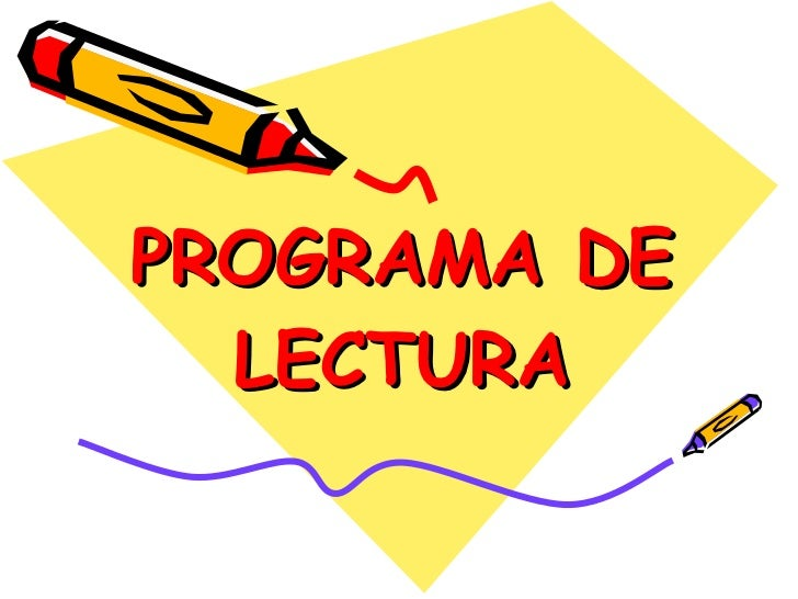 PROGRAMA DE LECTURA