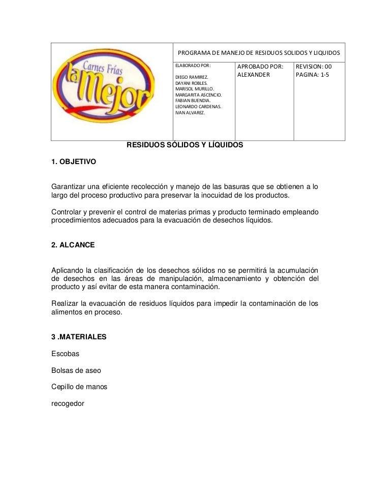 -16510-2045970PROGRAMA DE MANEJO DE RESIDUOS SOLIDOS Y LIQUIDOSELABORADO POR: DIEGO RAMIREZ.          DAYANI ROBLES.     ...