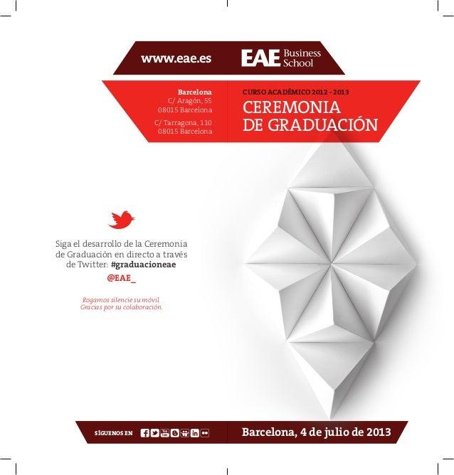 Programa de mano Graduacion EAE 2013 esp_eng