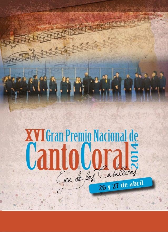 CantoCoral XVI 2014 Ejea de los Caballeros GranPremioNacionalde 26 y 27 de abril