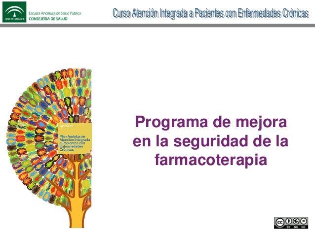 Programa de mejora en la seguridad de la farmacoterapia