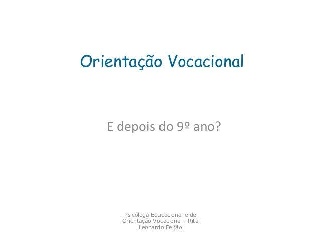orientação vocacional