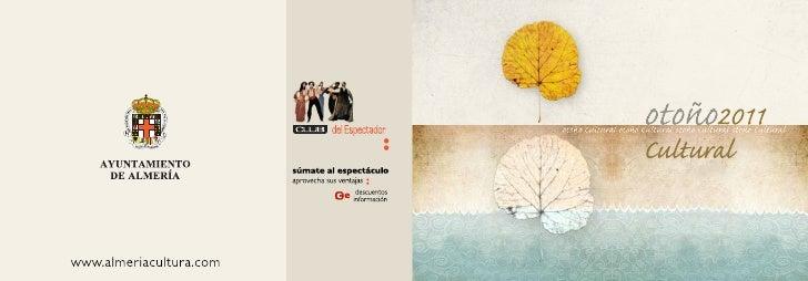 Programa de otoño 2011 en Almería